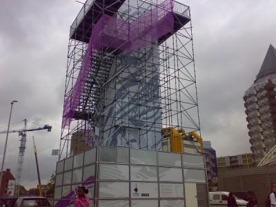 Uitkijktoren van steigers